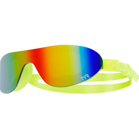 TYR Swimshades Mirrored Gafas, rainbow/flou yellow